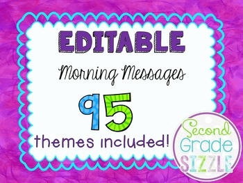 Editable Morning Messages