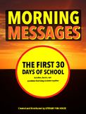 Morning Messages - First 30 Days of School