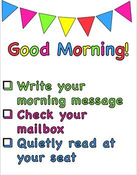 Editable Morning Routine