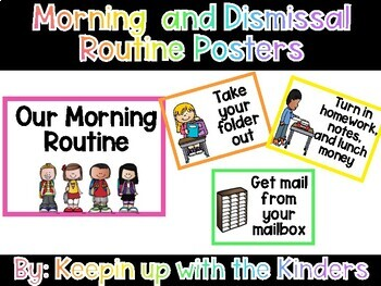 Editable Morning and Dismissal Routine Schedule