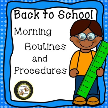Editable Morning Routines and Procedures Posters