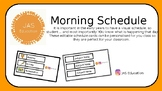 Editable Morning Schedule