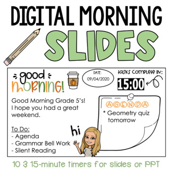 Editable Morning Slides with Timers | Google Slides & PPT | FREE FALL SAMPLE