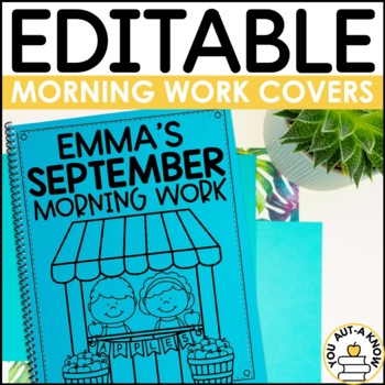 Editable Morning Work Covers