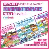 Editable Morning Work PowerPoint Templates MEGA Bundle