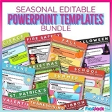 SEASONAL Editable Morning Work PowerPoint Templates Bundle