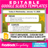 Editable Morning Work Presentation Google Slides Templates
