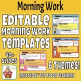 Editable Morning Work Templates for Entire Year