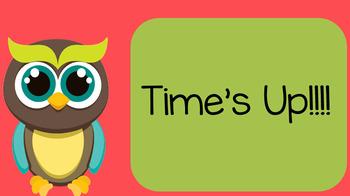 Editable Morning Work Timed Slide (Owl Themed)