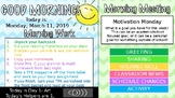 Editable Morning Work and Morning Meeting PowerPoint with timer