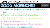 Editable Morning Work with timer