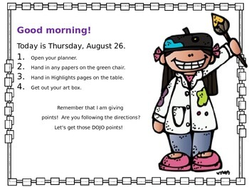 Editable Morning and Transition Boards