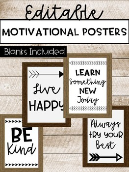 Editable Motivational Posters
