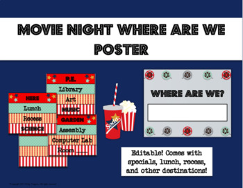Editable Movie Night Theme Where are We Poster