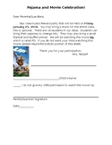 Editable Movie Party Permission Slip