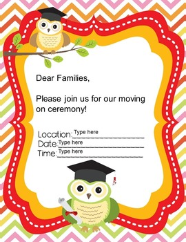 Editable Moving On Ceremony Invitations