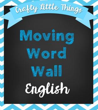 Editable Moving Word Wall