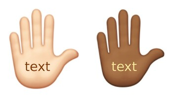 Editable Multicultural Word Hands