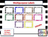 Editable Multipurpose Labels