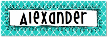 Editable Multipurpose Labels Tags Nameplates 9 x 3 inches