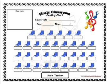 Editable music classroom seating chart by music fun with miss kristie