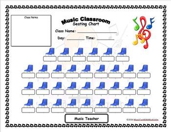 Editable Music Classroom seating chart