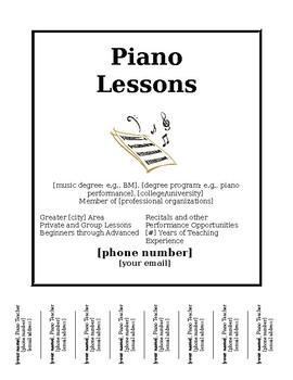 Editable Music Lesson Flyer