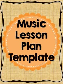Editable Music Lesson Plan Template