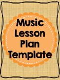 Editable Music Lesson Plan Template