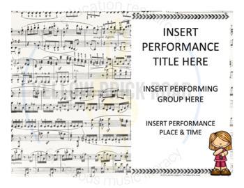 Editable Music Program Flyers