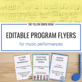 Editable Music Program Flyers