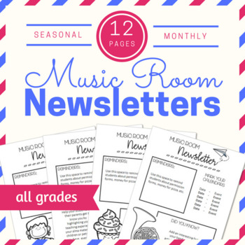 Editable Music Room Newsletters