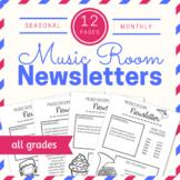 Editable Music Room Newsletters