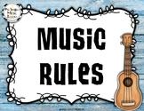 Editable Music Rules {Hawaiian Beach}