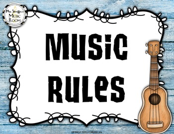 Editable Music Rules {Hawaiian Beach}