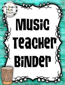 Editable Music Teacher Binder {Hawaiian Tiki Beach}