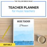 Editable Music Teacher Planner