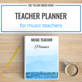 Editable Music Teacher Planner