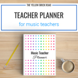 Editable Music Teacher Planner and Binder Set