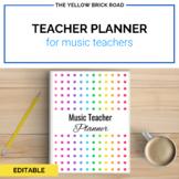 Editable Music Teacher Planner and Binder Set