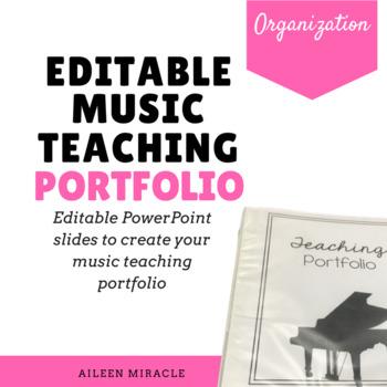 Editable Music Teaching Portfolio