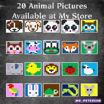 Editable Mystery Picture Animal #15 - Sight Words Spelling Vocabulary ANYTHING