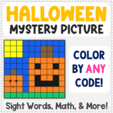 Editable Mystery Picture Freebie - Halloween - Color by Sight Words & More