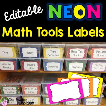 NEON Decor - Classroom Labels - Editable