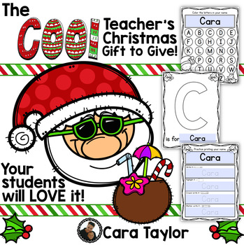 Editable Name Activities Christmas Gifts for Your Class!
