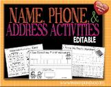 Editable Name Activities
