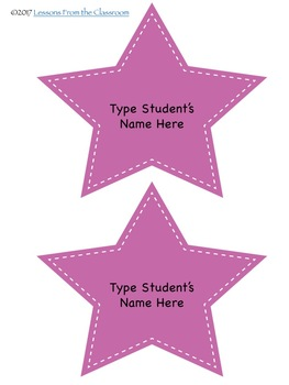 Classroom Decor Editable Name Tags and Cards