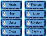 Editable Name Christmas Bookmarks