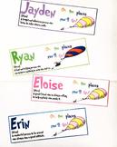 Editable Name Definition Labels