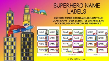 Editable Name Labels -- Superhero Theme